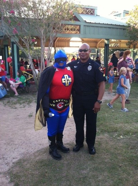 Cpl Sices with Captain Crime Stopper