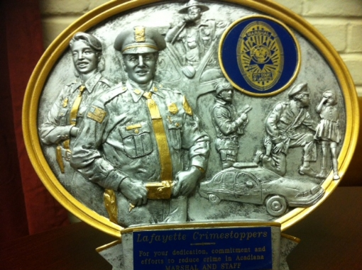City Marshal's Award for Lafayette Crime Stoppers