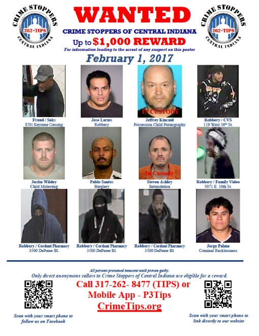 February 2017 Wanted Poster (2017/02/01)  Criminal Wanted Poster