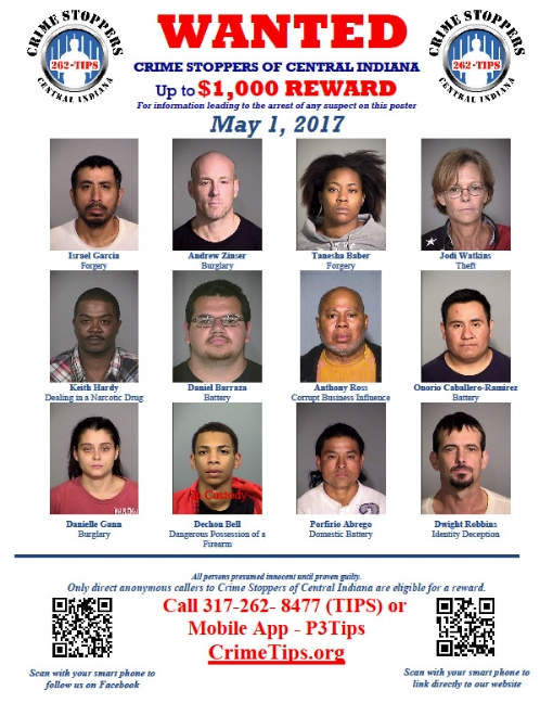 Crime Stoppers of Central Indiana – Criminal Wanted Poster